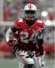 Malik Hooker signed Ohio State Buckeyes 8X10 Photo #24 (closeup)