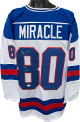 Jim Craig signed Miracle Team USA White Prostyle TB Jersey XL 1980 Gold (Olympics vs Soviet Union)- JSA Witnessed Hologram