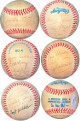 1971 NY Yankees HOF & Legends signed Ofc ROAL MacPhail Baseball 18 sigs – JSA LOA Mickey Mantle, Joe Dimaggio, Johnny Mize