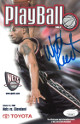 Willis Reed signed 2000-01 New Jersey Nets Playball Program vs Cleveland 10/31/00- JSA Hologram