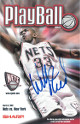 Willis Reed signed 2000-01 New Jersey Nets Playball Program vs NY Knicks 3/9/01- JSA Hologram #EE41599