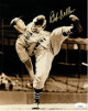 Bob Feller signed Cleveland Indians 8x10 Vintage Sepia Photo- JSA Hologram #EE41586