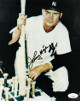 Johnny Mize signed New York Yankees 8x10 Vintage Color Photo- JSA Hologram #EE41601