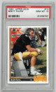 Brett Favre Atlanta Falcons 1991 Upper Deck Rookie Football Trading Card (RC) #13- PSA Gem Mint 10