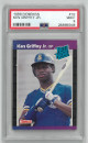 Ken Griffey, Jr. Seattle Mariners 1989 Donruss Rated Rookie Baseball Trading Card (RC) #33- PSA Graded 9 Mint