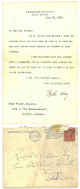John Hay signed Vintage June 20 1905 Department Of State Letter (5x8) & Envelope - JSA LOA # BB19709 (US Sec of State/Author)