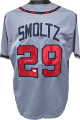John Smoltz signed Gray Custom Stitched Baseball Jersey XL- JSA Witnessed Hologram