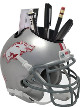 Arkansas Razorbacks (Silver) NCAA Football Schutt Mini Helmet Desk Caddy
