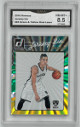 Jeremy Lin Brooklyn Nets 2016 Panini Donruss Green/Yellow Holo Laser Baseball Card #83- GMA Graded 8.5 NM-MT+