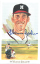 Warren Spahn signed 1989 Milwaukee Braves Perez-Steele Celebration Postcard (photo) #39- JSA Hologram #DD64323