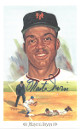 Monte Irvin signed 1989 New York Giants Perez-Steele Celebration Postcard (photo) #19- JSA Hologram #DD64320