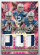 Andrew Luck/Donte Moncrief/Phillip Dorsett Colts 2015 Panini Prizm Spectra Team Trios Player Worn Relic Card #TT-IND- LTD 1/10