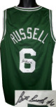 Bill Russell signed Green Custom Stitched TB Pro Basketball Jersey #6- Russell-Altman Hologram