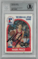 Mark Price signed 1989-90 Hoops NBA All-Star Game Card #28- Beckett BAS #00011514676 (Cleveland Cavaliers)
