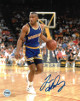 Tim Hardaway signed Golden State Warriors 8x10 Photo (blue jersey)