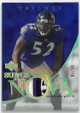 Ray Lewis Baltimore Ravens 2007 Upper Deck Trilo3y Supernova Swatches Gold Card  #SS-RL- LTD 5/33
