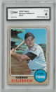 Harmon Killebrew Minnesota Twins 1968 Topps Baseball Card #220- GMA Graded 4 Very Good-Excellent