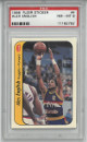 Alex English Denver Nuggets 1986-87 Fleer Sticker Basketball Card #4- PSA Graded 8 Near Mint-Mint