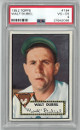 Walt Dubiel Chicago Cubs 1952 Topps Baseball Card #164- PSA Graded 4 Very Good-Excellent