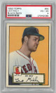 Leo Kiely Boston Red Sox 1952 Topps Baseball Card #54 (black back)- PSA Graded 4 Very Good-Excellent
