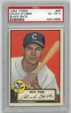 Chuck Stobbs Chicago White Sox 1952 Topps Baseball Card #62 (black back)- PSA Graded 4 Very Good-Excellent