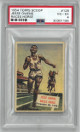 Jesse Owens Races Horse 1954 Topps Scoop Card #128- PSA Graded 4 Very Good-Excellent
