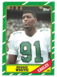 Reggie White Philadelphia Eagles 1986 Topps Football Rookie Card (RC) #275