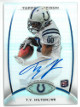 TY (T.Y.) Hilton Indianapolis Colts signed 2012 Topps Platinum Certified Autograph Issue Rookie Card (RC) #147