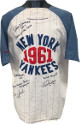 1961 NY Yankees Champs signed Cooperstown Collection TB Jersey XXL 6 sigs- Tony Kubek/Edward Charles Ford/Clete Boyer- JSA LOA