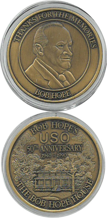 Bob Hope USO 50th Anniversary Bronze Medal Commemorative Coin