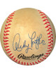 Andy Pafko signed RONL Rawlings Official National League Baseball toned- JSA Hologram #EE41674 (Cubs/Dodgers/Braves)