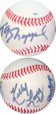 T.G. Sheppard & Kelly Lang dual signed Rawlings R200x Official League Baseball- JSA Hologram #EE41801 (country music singer)