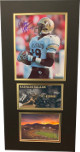 Rashaan Salaam signed Colorado Buffaloes 8x10 Photo Heisman 94 3 photo 12x24 Matted- JSA Witnessed Hologram #WP18027