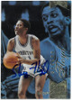 Sleepy Eric Floyd signed Georgetown Hoyas 2014 Fleer Flair Showcase Basketball Card 125/Row1