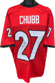 Nick Chubb signed Georgia Bulldogs Red Custom Stitched College Football Jersey #27 XL- JSA Witnessed Hologram (signed on 2)