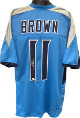 AJ (A.J.) Brown signed Light Blue Custom Stitched Pro Style Football Jersey XL- JSA Signature Debut Hologram