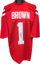 AJ (A.J.) Brown signed Ole Miss Rebels Red Custom Stitched College Football Jersey XL- JSA Signature Debut Hologram #SD71286