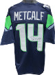DK (D.K.) Metcalf signed Navy Custom Stitched Pro Style Football Jersey XL- JSA Witnessed Hologram