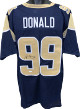 Aaron Donald signed Navy Custom Stitched Pro Style Football Jersey - JSA Witnessed Hologram #WPP455351