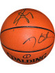 Kevin Durant & Serge Ibaka dual signed Spalding NBA Indoor/Outdoor Basketball- JSA Hologram #U64430 (Oklahoma City Thunder)