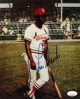 Lou Brock signed St. Louis Cardinals 8x10 Photo- JSA Hologram #EE62957