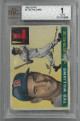 Ted Williams Boston Red Sox 1955 Topps Baseball Trading Card #2- Beckett Graded 1 Poor