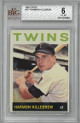 Harmon Killebrew Minnesota Twins 1964 Topps Baseball Card #177- BVG Beckett Graded 6 Excellent-Mint