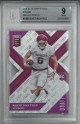 Baker Mayfield Oklahoma 2018 Elite Draft Picks Die Cut Purple Rookie Card (RC) #139B LTD 19/99- BGS Beckett Graded 9 Mint