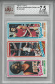 Julius Erving Philadelphia 76ers 1980-81 Topps Card #51- BGS Beckett Graded 7.5 Near Mint+ (w/Marques Johnson & Abdul Jeelani)