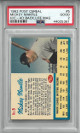 Mickey Mantle New York Yankees 1962 Post Cereal Hand Cut/Ad Back Life Magazine Card #5- PSA Graded 2 Good