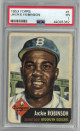 Jackie Robinson Brooklyn Dodgers 1953 Topps Baseball Card #1- PSA Graded 1 Poor