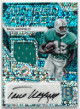 Paul Warfield signed Miami Dolphins 2017 Panini Spectra Game Used Material Football Card #AA-PW- LTD 05/25