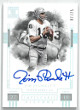 Jim Plunkett signed Oakland Raiders 2018 Panini Impeccable Victory Football Card #IV-JP- LTD 07/25