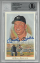 Mickey Mantle signed NY Yankees 1989 Perez Steele Celebration 3.5x5.5 HOF Postcard #28- Beckett/BAS #00011643301 Slabbed LTD